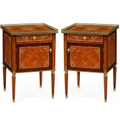 Jonathan Charles Bedside Cabinet Mother of Pearl Set of 2