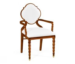 Jonathan Charles Dining Chair with Arms Barley in Walnut - COM