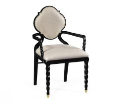 Jonathan Charles Dining Chair with Arms Barley in Black - Mazo