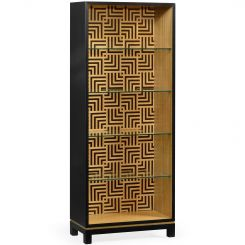Jonathan Charles Bookcase Geometric with Glass Shelves