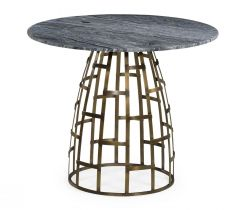 Jonathan Charles Outdoor Round Dining Table Geometric