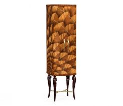 Jonathan Charles Drinks Cabinet with Feather Inlay