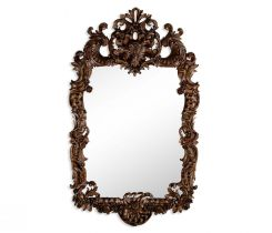 Jonathan Charles Wall Mirror Grinling Gibbons in Walnut