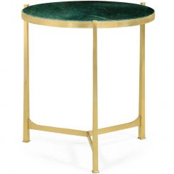 Jonathan Charles Large Round Lamp Table with Brass Base