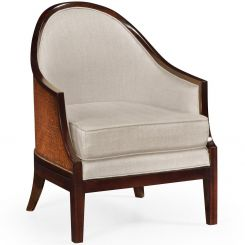 Jonathan Charles Rounded Dining Chair Malaysian in Mazo