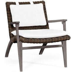 Jonathan Charles Outdoor Lounge Chair Grey Rattan in COM