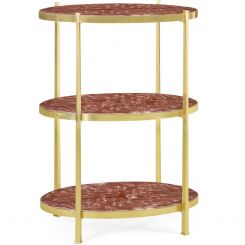 Jonathan Charles Large Side Table Contemporary Three-Tier