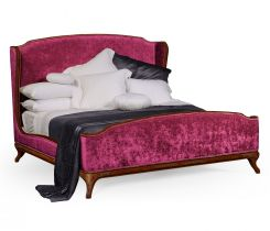 Jonathan Charles King Bed Frame Louis XV in Walnut