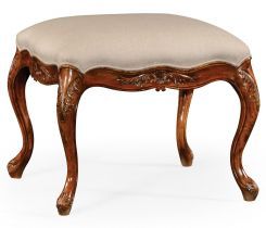 Jonathan Charles Large Footstool French Provincial in Walnut