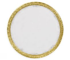 Jonathan Charles Large Round Mirror Water Gilded