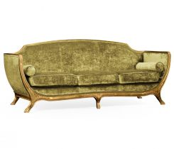 Jonathan Charles Large Sofa Empire in Gold Leaf