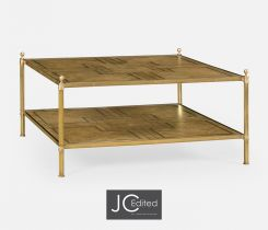 Jonathan Charles Square Coffee Table English Two-Tier