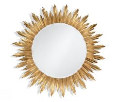 Jonathan Charles Large Wall Mirror Sunburst