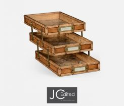Jonathan Charles Letter Tray Set of 3 Travel