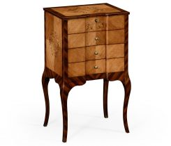 Jonathan Charles Collectors Cabinet Marquetry