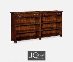 Jonathan Charles Low Double Bookcase Rural