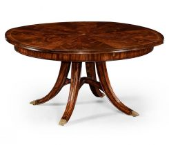 Jonathan Charles Round Dining Table Georgian with Self-storing Leaves