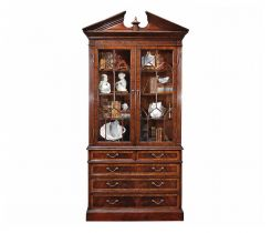 Jonathan Charles Display Cabinet with Drawers George II in Mahogany