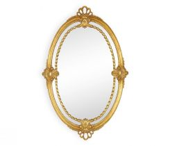 Jonathan Charles Wall Mirror Adam Style - Gold