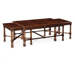 Jonathan Charles Nesting Coffee Table Chippendale Gothic