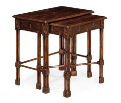 Jonathan Charles Nest of Tables Chippendale Gothic