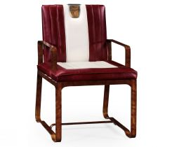 Jonathan Charles Occasional Chair 50s Americana in Leather