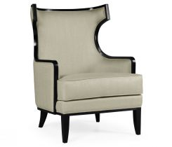 Jonathan Charles Occasional Chair Greek in Black