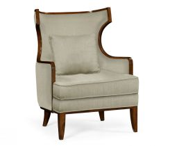 Jonathan Charles Occasional Chair Greek in Walnut