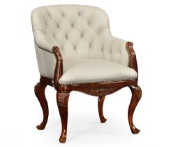 Jonathan Charles Occasional Chair Chesterfield Style