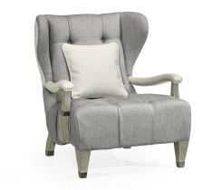 Jonathan Charles Wing Chair Doha in Grey Oak