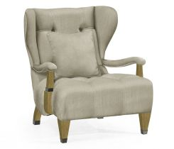Jonathan Charles Wing Chair Doha in Natural Oak
