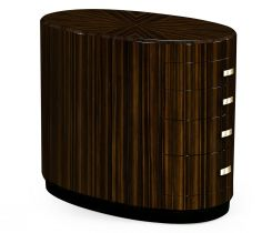 Jonathan Charles Oval Chest of Drawers Lustre