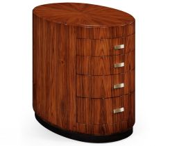 Jonathan Charles Oval Chest of Drawers with Brass Art Deco