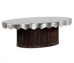 Jonathan Charles Oval Coffee Table Deco