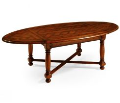 Jonathan Charles Oval Coffee Table Parquet