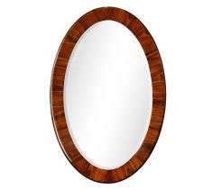 Jonathan Charles Oval Mirror Art Deco Rosewood