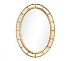 Jonathan Charles Oval Wall Mirror Georgian Irish - Gold