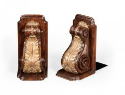Jonathan Charles Bookends Acanthus Leaf