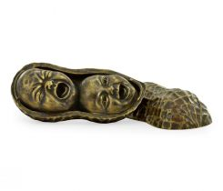 Jonathan Charles Peanut Shell Ornament with Faces