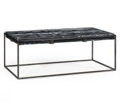 Jonathan Charles Outdoor Coffee Table with Black Marble Top