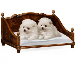 Jonathan Charles Four Poster Dog Bed in Crotch Mahogany