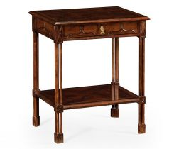 Jonathan Charles Side Table with Drawer Chippendale Gothic