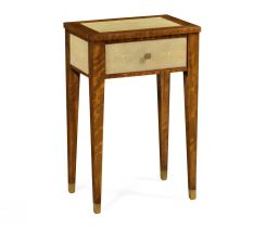 Jonathan Charles End Table Ivory Faux Shagreen