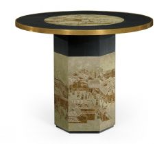 Jonathan Charles Round Centre Table Chinoiserie Style