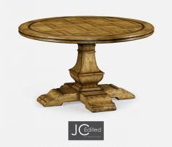 Jonathan Charles Round Dining Table in Brown Chestnut