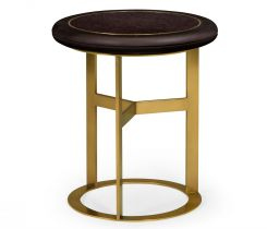 Jonathan Charles Round Side Table Malaysian with Granite Top