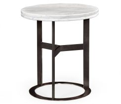 Jonathan Charles Round Side Table Calacatta
