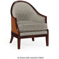Jonathan Charles Rounded Dining Chair Malaysian in COM