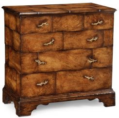 Jonathan Charles Distressed Chest of Four Drawers Rustic