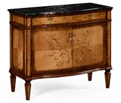 Jonathan Charles Side Cabinet Louis XV with Marble Top